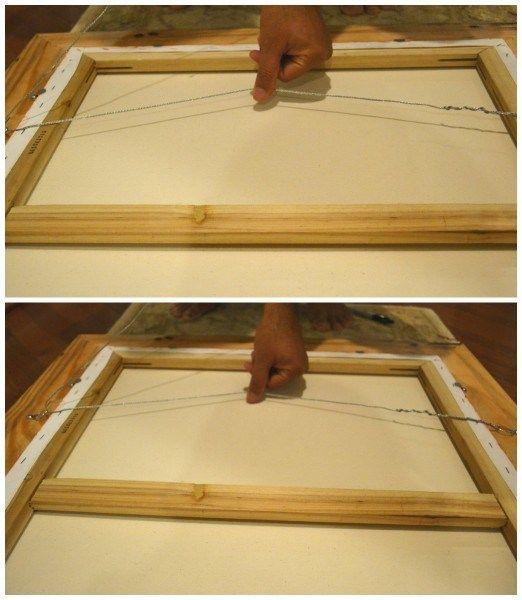 Utilizar alambre para poner cuadros