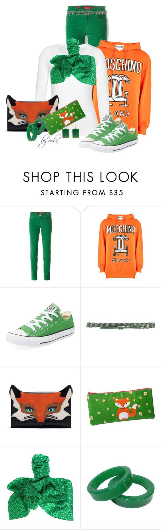 """""""Sneakers & a Branded Hoodie"""" by eula-eldridge-tolliver ❤ liked on Polyvore featuring Jacob Cohёn, Moschino, Converse, Orciani, Bottega Veneta and Margaret Elizabeth"""