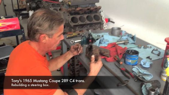 How to rebuild a steering box on Tony's 1965 Mustang Coupe 289 - Day 9