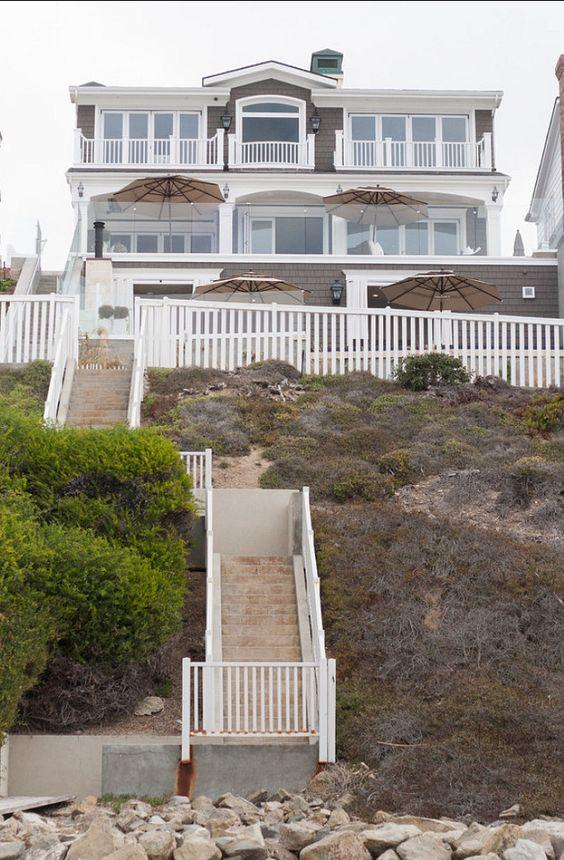 California Beach house back beachside