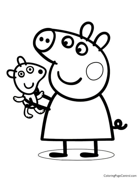 Peppa Pig Coloring Page Peppa Pig Coloring Page 01 Peppa Pig Coloring Pages Peppa Pig Colouring Family Coloring Pages