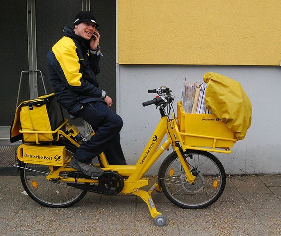 deutsche post cargo e bike electric cargo bicycle. Black Bedroom Furniture Sets. Home Design Ideas