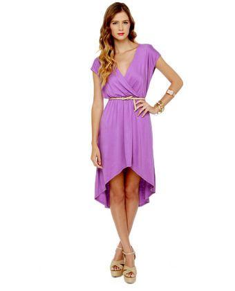 Cute Purple Dress - Lavender Dress - High Low Dress - $37.50