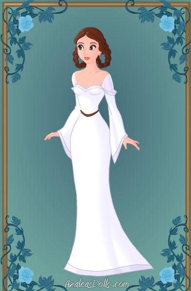 hmmm..wedding dress idea from leia fan art lol: