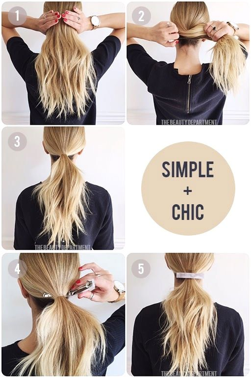 Easy Hairstyles For Work The Goddess Easy Simple Hairstyles Easy Work Hairstyles Work Hairstyles Easy Hairstyles