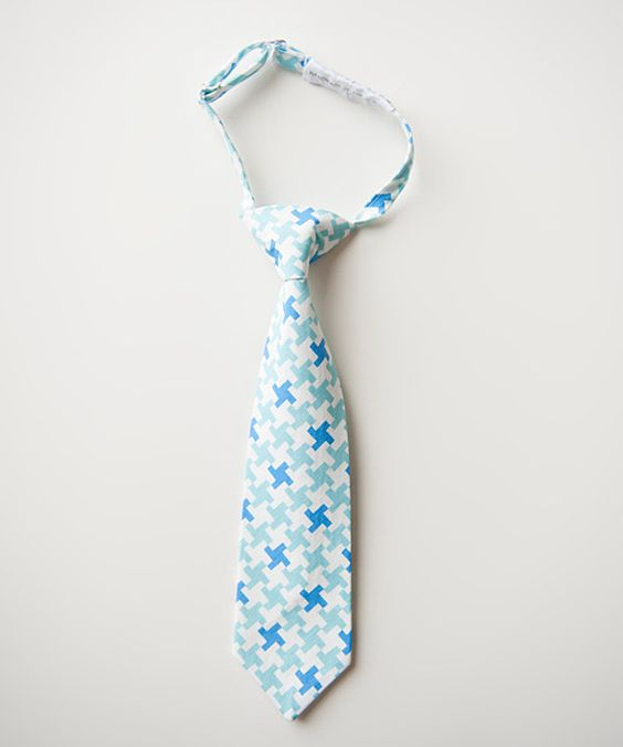 Take a look at this Blue & White Houndstooth Miles Tie on zulily today!