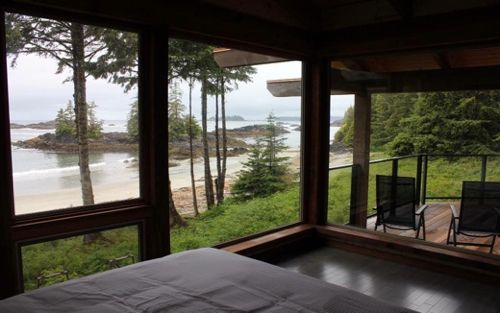 Luxurious #accommodations offering one or two bedrooms in self-contained, #beachfront timber frame lodges complete with #fireplaces, modern kitchens, #luxury linens, spectacular #ocean views, and walk-on beach access. #AboriginalBC http://aboriginalbc.com/members/wya-point/