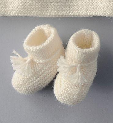 patron tricot gratuit chausson bebe
