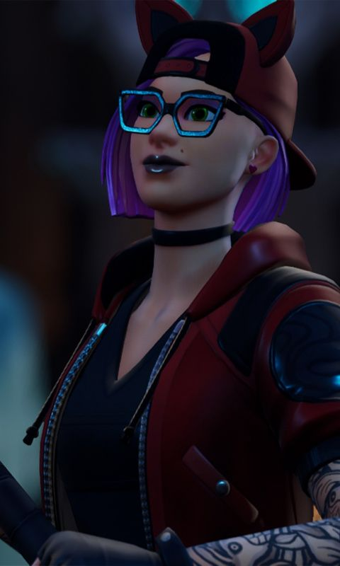 Glasses Woman Skin Urban Girl Fortnite Wallpaper Women Skin