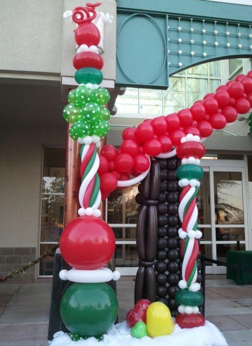 Christmas balloon arch decor