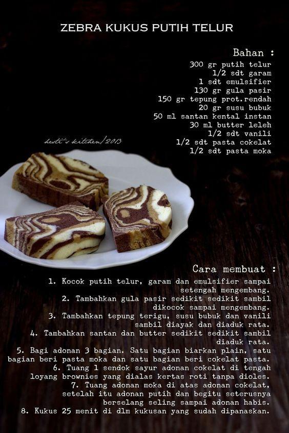 Hesti S Kitchen Yummy For Your Tummy Zebra Kukus Putih Telur Kue Zebra Makanan Ringan Manis Makanan Ringan Gurih