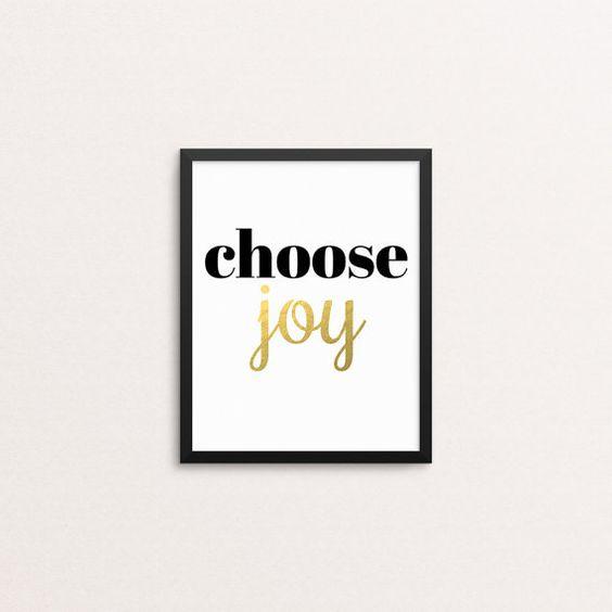 Scegliere la gioia foglia d'oro 8 x 10 Art di SpottedFoxDesigns