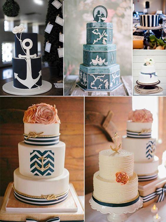 Beautiful Nautical Wedding Cakes