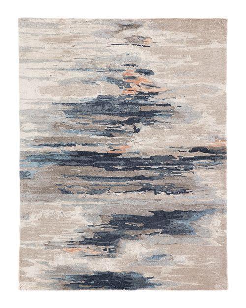 Surya Watercolor Wat5011 Grey Grey Modern Area Rug Modern Area