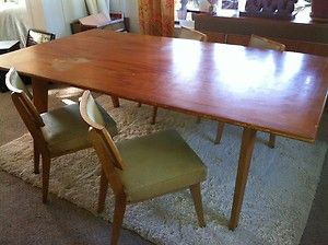 Modern dining table mid century modern and mid century on for 7ft dining room table