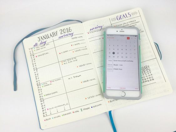 5 different ways to handle future planning in your Bullet Journal: I'm a big fan of this monthly spread layout!