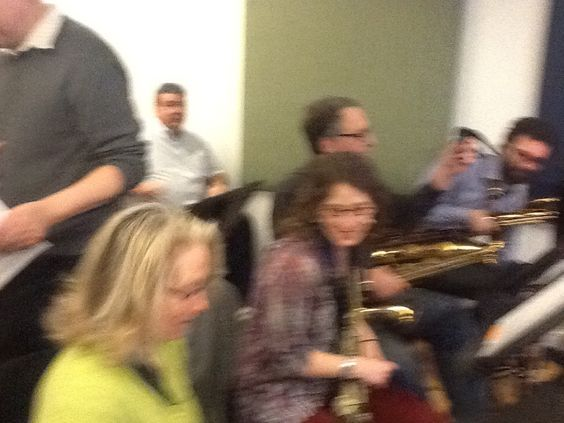 The students of the New York Jazz Workshop Big Band.