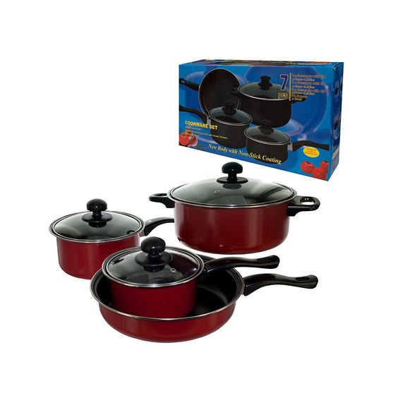 handy helpers Bulk Buys 7-Piece Stainless Steel Cookware Set >>> Learn more by visiting the image link.