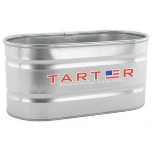 Tarter 174 300 Gallon Galvanized Oval Stock Tank Patio