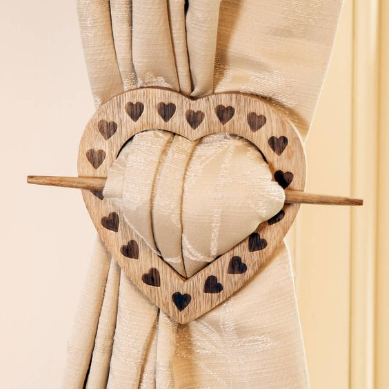 French Chalet Heart Curtain Tie Back   Home, French and The o'jays