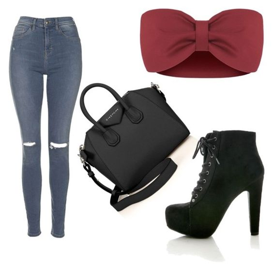 """""""Going out //~Amerika"""" by kiya-sk ❤ liked on Polyvore featuring Givenchy and Topshop"""