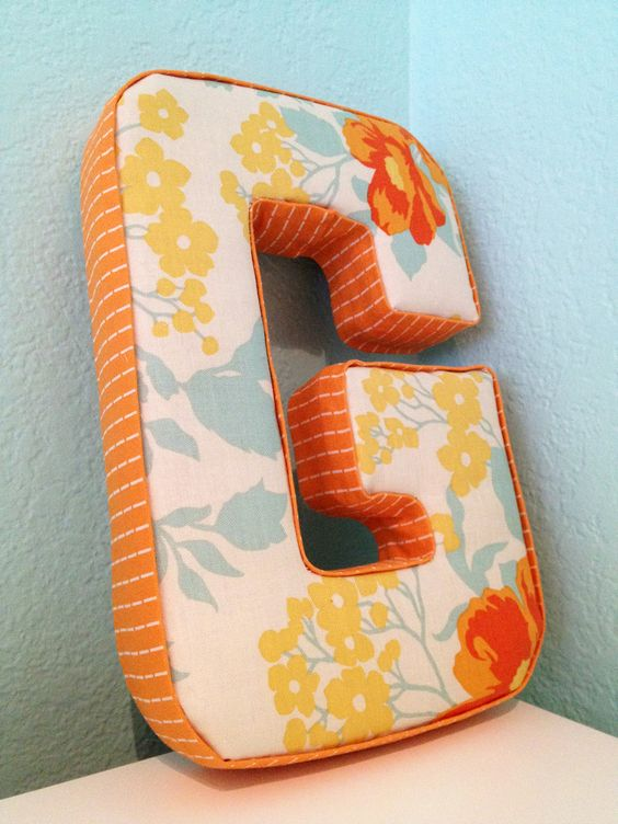 baby pinterest fabric covered letters fabric covered and letters