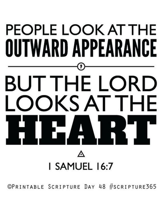 1 Samuel 16:7. The Lord looks at the heart. 8x10. PDF. DIY Printable Christian Poster. Bible Verse.