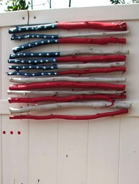 DIY Rustic Stick USA Flag: