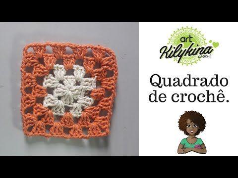 Amostra De Quadrado Passo A Passo De Crochê Youtube Quadrados De Croche Padrões Livres De Crochê Crochê