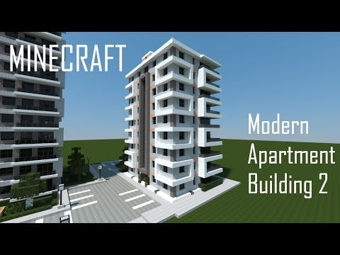 Minecraft Modern Apartment Building 2 Download Youtube Minecraft Modern Minecraft Modern City Minecraft Blueprints