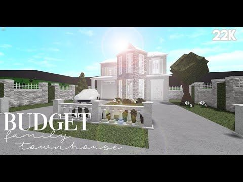 Bloxburg Budget Family Townhouse 22k No Advance Placement House Build Youtube Building A House House Home Building Design
