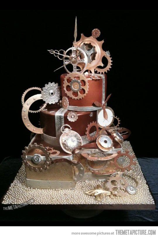 steampunk cake: