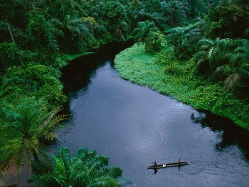 Congo Canoeists  Photograph by Michael Nichols