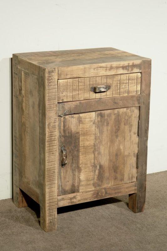 Nieuw Oud vergrijsd houten nachtkastjes nachtkastje landelijk vergrijsde PT-35