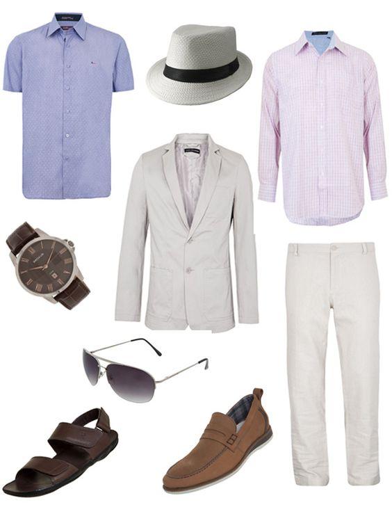roupas masculinas para festa na praia