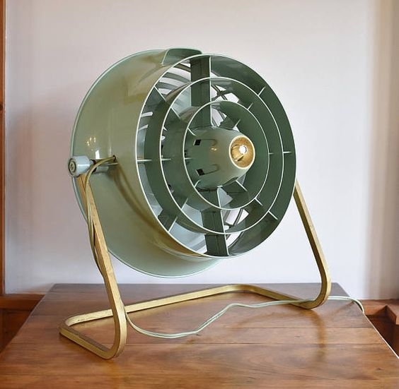 Green Hunter Floor Fan, Working 2 Speed Electric Ducted Fan Model V12 4  Blade, Industrial Steampunk Studio ...