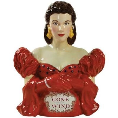 Gone with the Wind Red Dress Scarlett 10-3/4-Inch Cookie Jar