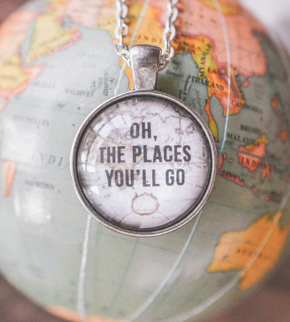 Oh The Places You'll Go Necklace by Livin' Freely on Scoutmob