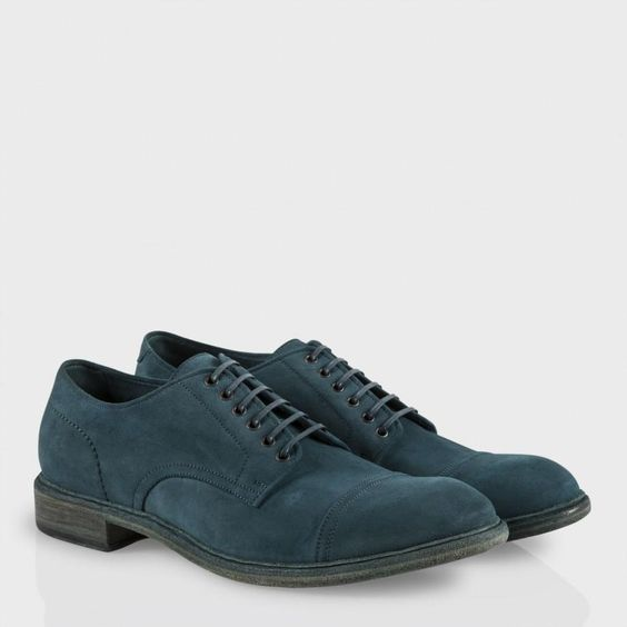 Paul Smith Shoes - Petrol Blue Suede Kirby Shoes