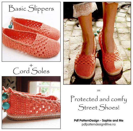 2in1-Pattern for Coral Lace Toms/Slippers included Tailored CORD-Soles  - Instant Download on Etsy, $11.95 CAD
