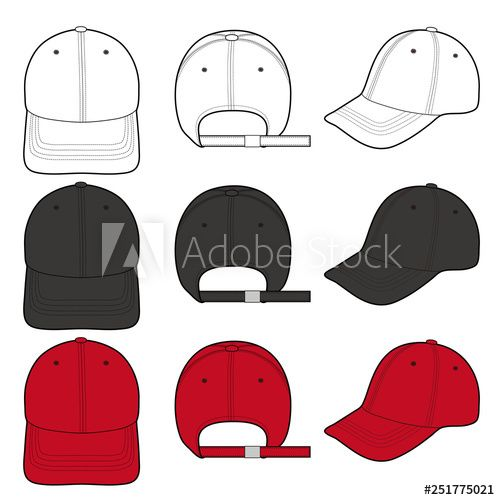 Baseball Cap Fashion Flat Vector Illustration Mockup Design Buy This Stock Vector And Explore Similar Vectors At Adobe Stock Adobe Stock