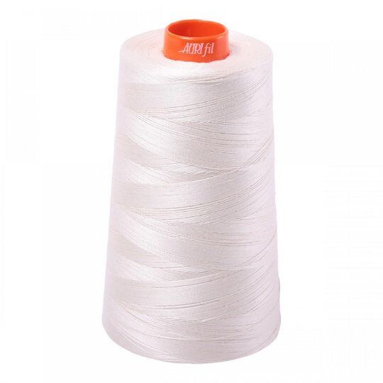 Aurifil Cone 2311 Muslin Off White Egyptian Mako Cotton 50 Weight Wt 5900 Meters 6452 Yards Quilt Cotton Quilting Thread In 2020 Quilting Thread Aurifil Laundry Basket Quilts