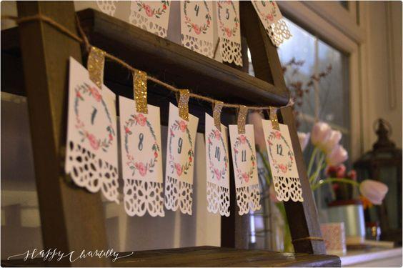 Cadeau pour mon anniversaire: DIY Calendrier de l'avent à imprimer – DIY Printable advent calendar | Happy Chantilly
