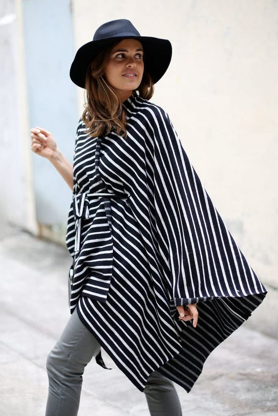 Stripes cape shawls
