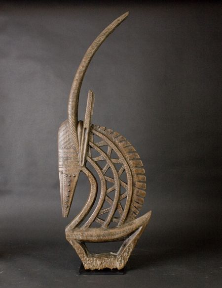 Africa   Dance crest (male) from the Bamana people of Mali   Wood and metal   ca. 1930 - 50