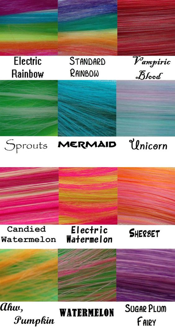 """These are artificial 1"""" weave-in hair clips.  FAKE, in other words. 12"""" Long Multi-Colorful Hair Highlight Clip: Shapeshifter Monofiber"""