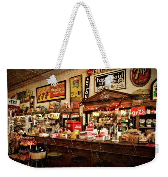 THE SODA FOUNTAIN WEEKENDER TOTE BAG BY LANA TRUSSELL