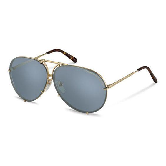 Porsche Design P8613 B/V604 Sunglasses ($375) ❤ liked on Polyvore featuring accessories, eyewear, sunglasses, porsche, porsche design, porsche design sunglasses, gold, titanium frame glasses, lens glasses and porsche design glasses