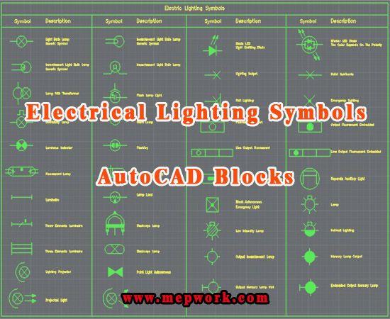 Autocad Lighting Symbols Free Download Dwg Blocks Listrik