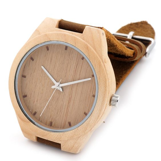 New Arrival Wood Wrist Watch with Genuine Cowhide Leather Strap Luxury Wristwatch for Men and Women Best Watches for Gift Choose